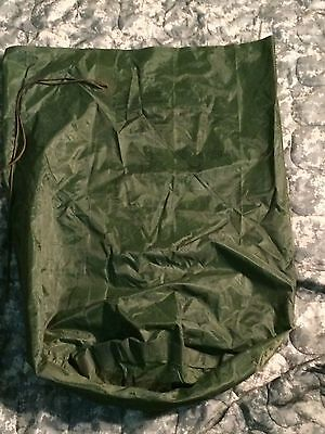US Military Waterproof Clothing Bag Wet Weather Heavy Rubber Bonded Nylon VGC