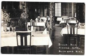 Real-Photo-Postcard-Dining-Room-Summer-Hotel-in-Glenwood-Minnesota-103918