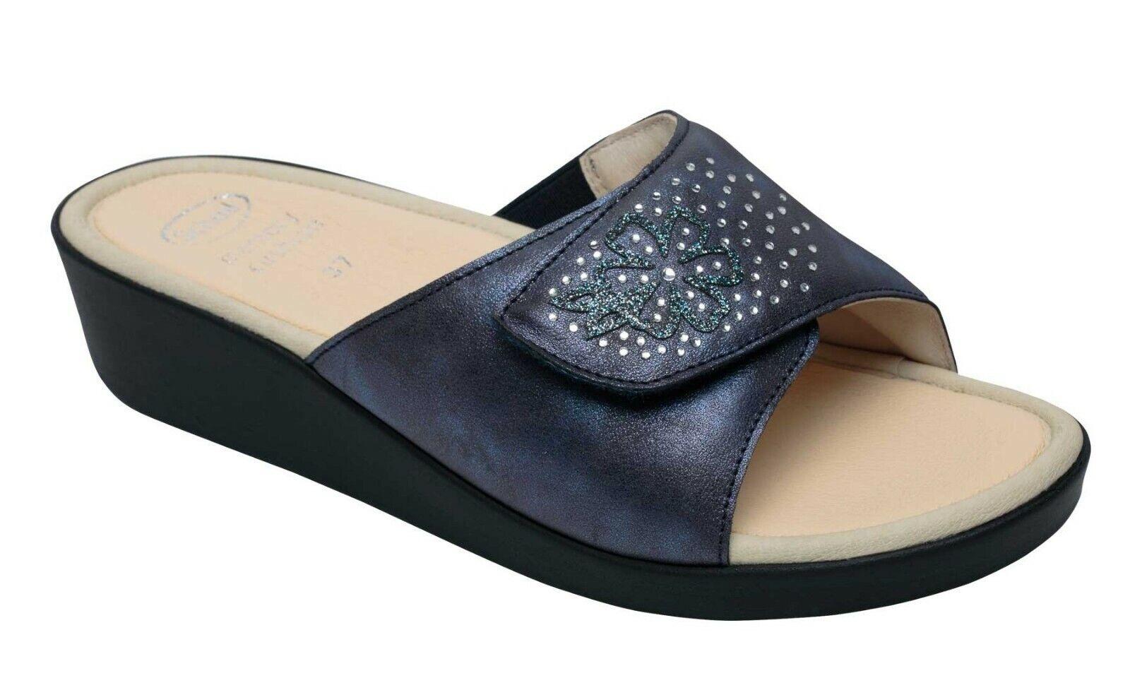 Scholl Scholl Scholl ledel minnesdyna sandaler kvinns kilar för skockar  uppkopplad