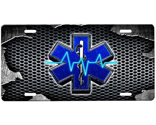 EMS license plate