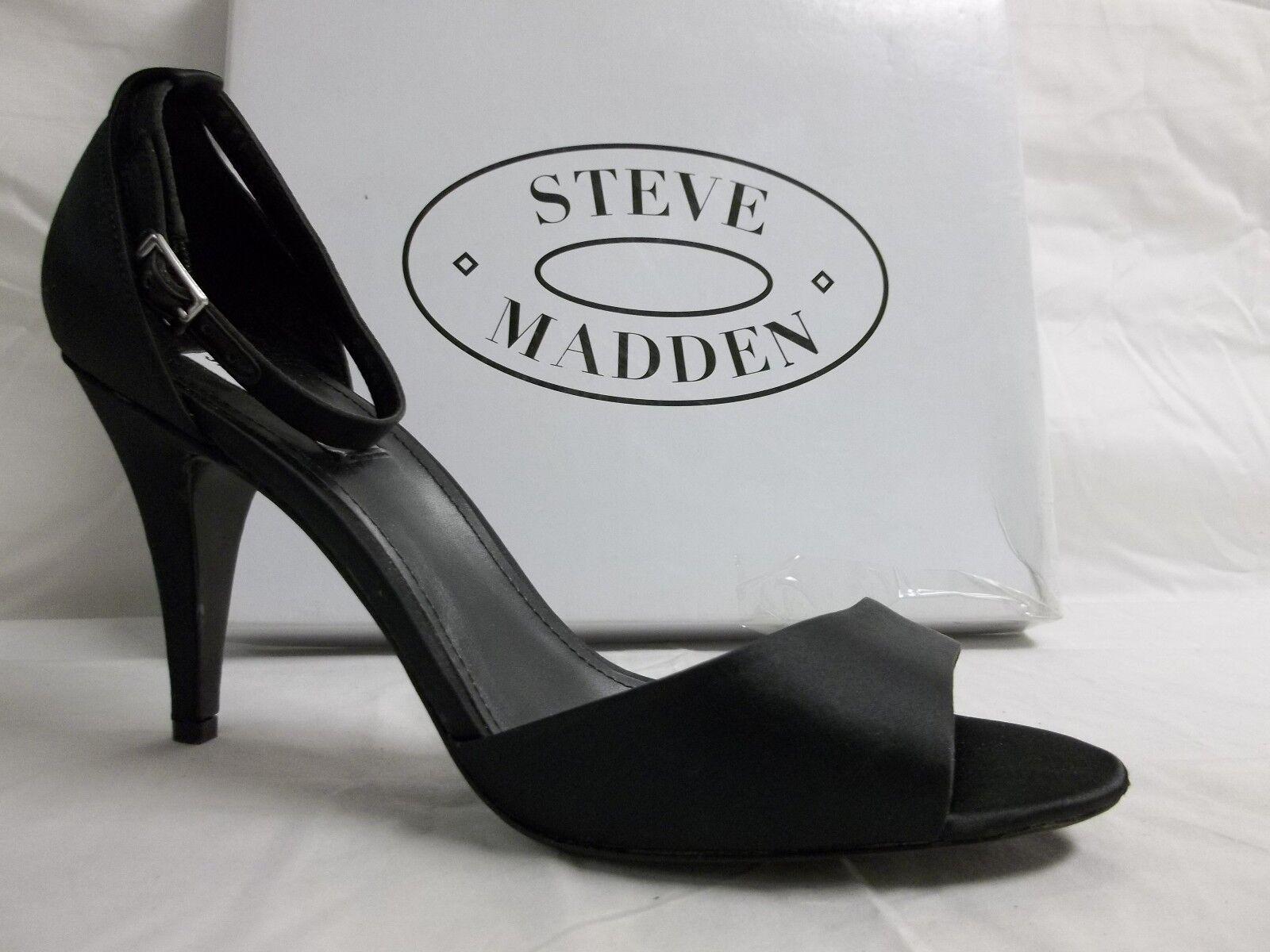 disponibile Steve Madden Dimensione 10 10 10 M Walltz nero Satin open Toe Heels New donna scarpe  più preferenziale