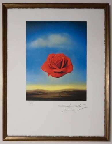 """Salvador Dali /""""Meditative rose/"""" Lithograph Limited 2000 pcs."""