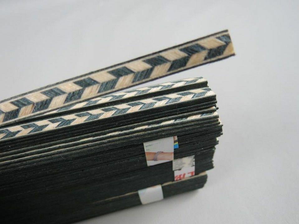 100STRIP schön LUTHIER FIGUrot BINDING XL-67,Maße 6mm x1,2mm dick und 640mm