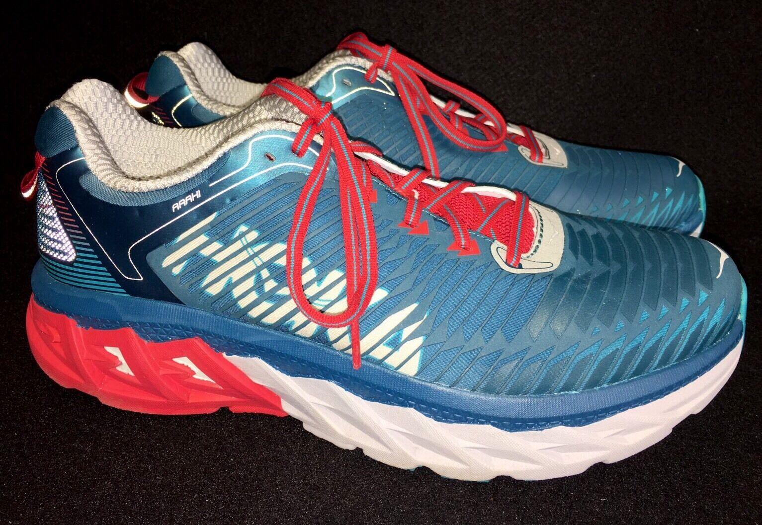 wholesale dealer e26c6 29896 HOKA ONE ONE Arahi Men s running tennis tennis tennis shoes Blue Coral True  Red 1016258 size