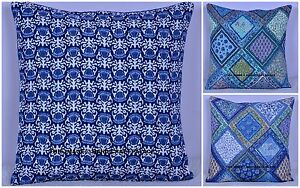 Indian-Quilted-Cotton-Throw-Pillow-Case-Cushion-Cover-Home-Sofa-Decor-16-034-Square