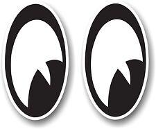 Retro Cartoon Toon Eyes Looking RIGHT Cafe racer Hotrod vinyl car Helmet sticker