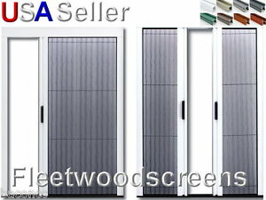 Retractable pleated folding sliding patio door screen for Custom sliding screen doors