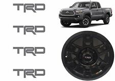 (4) Magnetic Gray TRD Vinyl Decals For TRD SEMA Wheel Center Caps New Free Ship