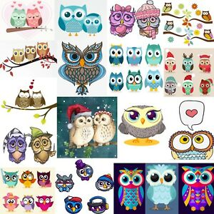 DMC-Owls-Cross-Stitch-Embroidery-Pattern-Kit-Chart-PDF-Home-Decor-Gift-14-Count
