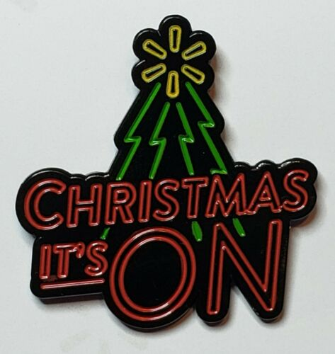"Walmart Associate /""Christmas It/'s ON/"" Lapel Pin"