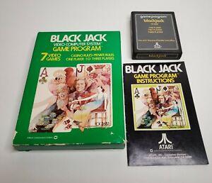 Blackjack-Black-Jack-For-Atari-2600-VCS-Complete-Game-Cartridge-Manual-amp-Box