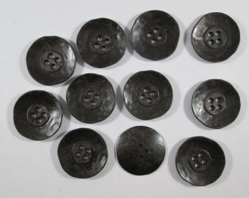 Metall  Knopf Knöpfe 11 stück  schwarz      27  mm   #1183#