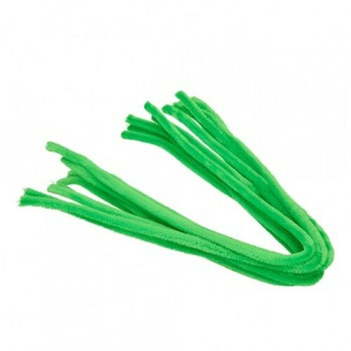 10 Pack Light Green 50cm Extra Long Craft Stems Pipe Cleaners Chenille 8mm