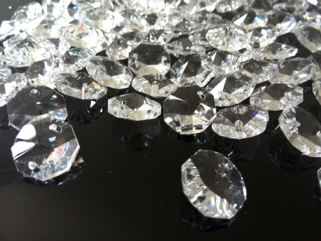 Mm AAA Hole Clear OCTAGON Crystal Glass Beads Chandelier - Octagon chandelier crystals