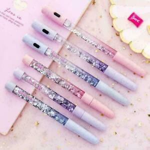 Glitter-Pen-fluessige-Farbe-Kawaii-Pen-Magic-Light-Gel-Nett-Geschenk-Stift-B-Q8P8