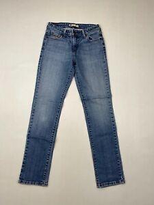 Levi-039-s-Mid-Rise-Skinny-Jeans-w28-l32-blau-super-Zustand-Damen