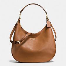 New Coach F38259 Leather HARLEY HOBO Handbag Purse Shoulder Bag Saddle Brown