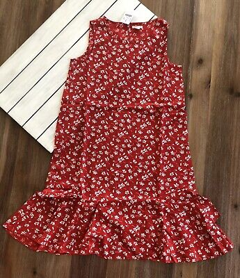 16 Red White Sz 14 J Crew Crewcuts Girl/'s Floral Dress NWT