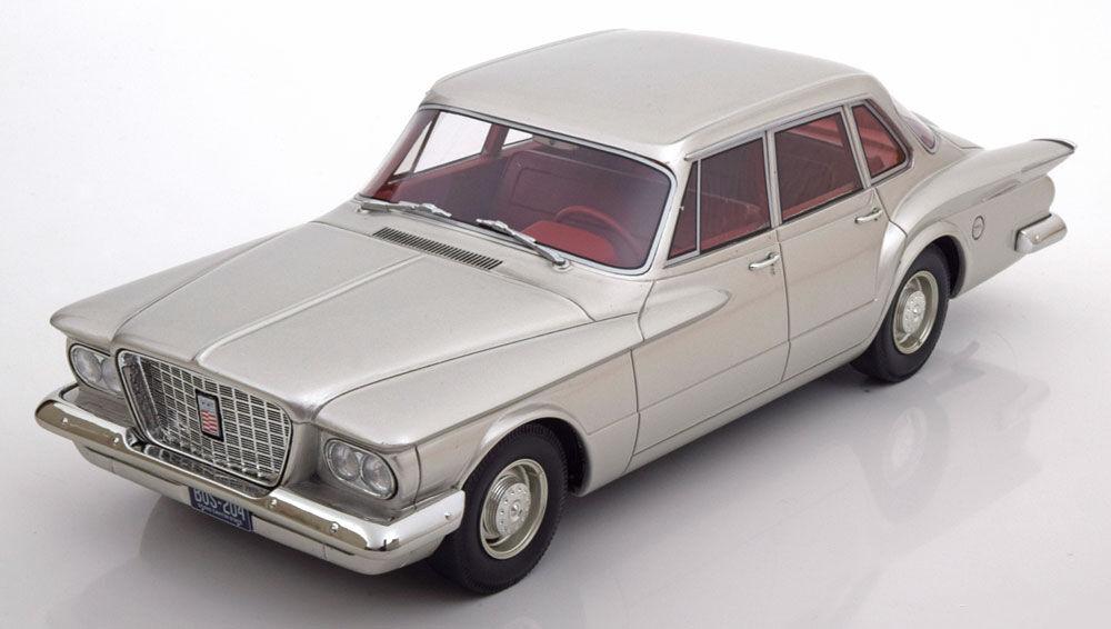 1960 Plymouth Valiant Berline Argent par Bos Bos Bos Modèles le de 1000 1/18 Échelle   Conception Habile  f0cdaa
