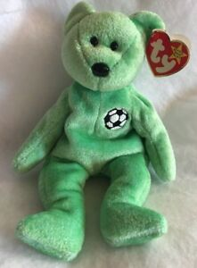 f823cc3ce2e Image is loading TY-Beanie-Baby-Kicks-the-Bear-1998-Rare-