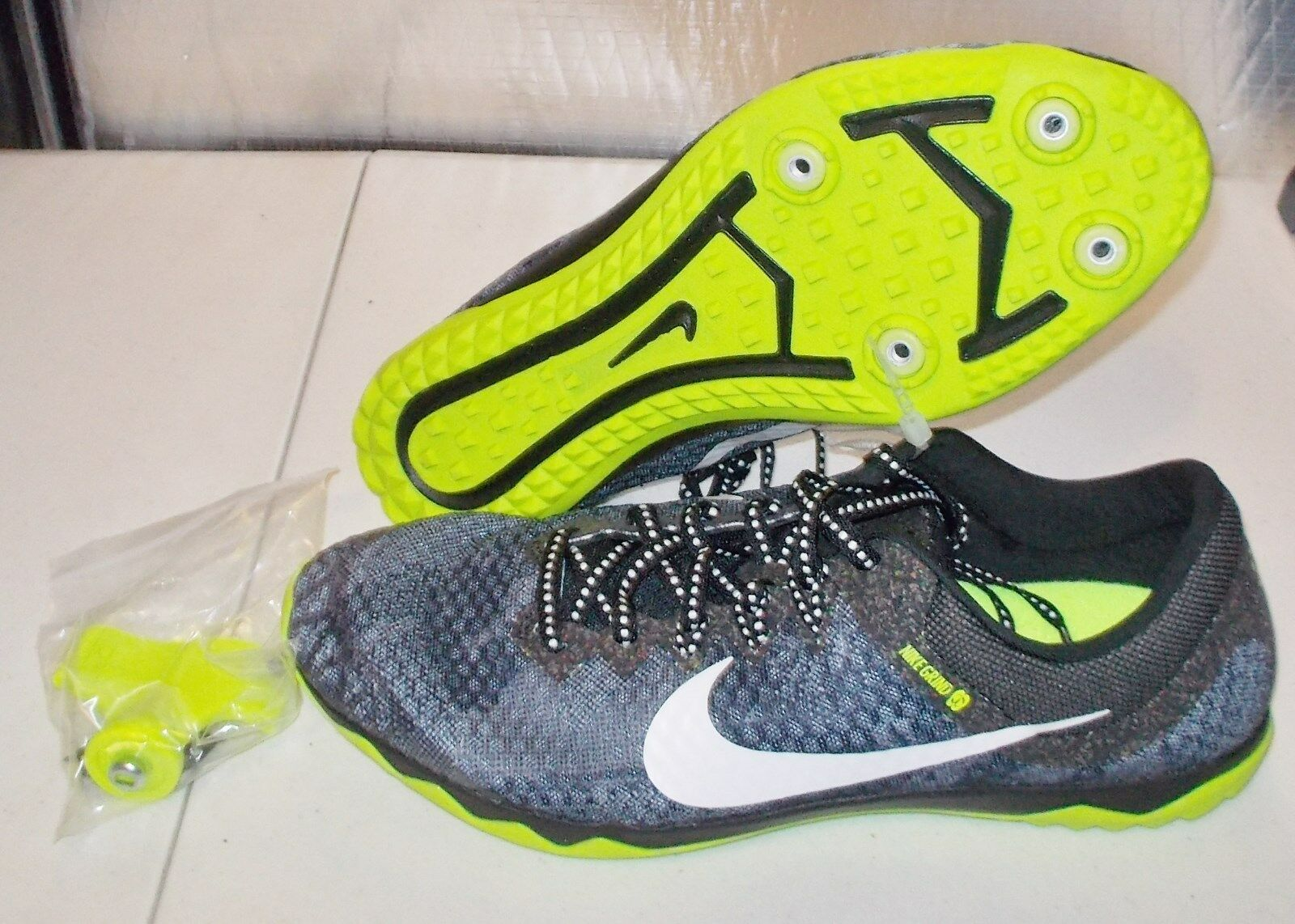 06719034359 ... NEW NEW NEW NIKE ZOOM RIVAL XC Spikes TRACK Shoes MENS 8 Black Volt  White 749349 ...