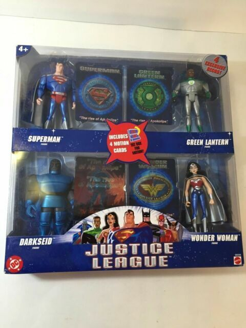 Hasbro Wonder Woman Green Lantern and Darkseid Justice League The Rise of Apokolips 4 Pack Includes: Superman