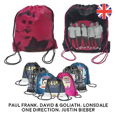 a7c4bf543f School Drawstring Book Bag Sport Gym Swim PE Dance Girls Boys Kids Fun  Backpack