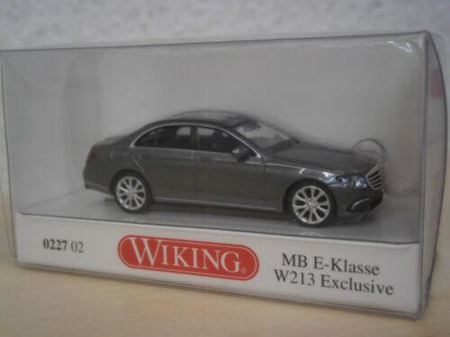 W 213 0227 02-1:87 grau-metallic Mercedes-Benz E-Klasse Limousine Wiking