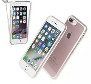 360-Front-amp-Back-For-iPhone-6-Crystal-Clear-Silicone-Bumper-Anti-shock-burst