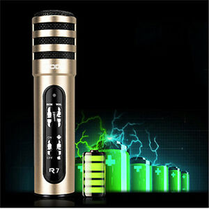 Bluetooth Karaoke Microphone Mic Speaker USB Player Home KTV For IPhone Android