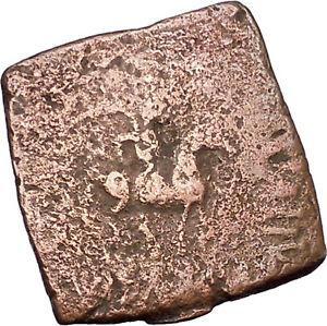 AZILISES-85BC-INDO-SKYTHIAN-King-on-Horse-Bull-Ancient-Greek-Coin-India-i47061