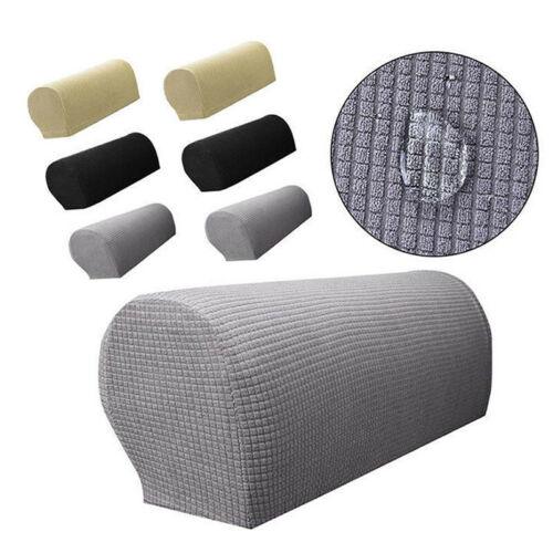 1 Pair Removable Arm Stretch Sofa Couch Chair Protector Armchair Covers Armrest