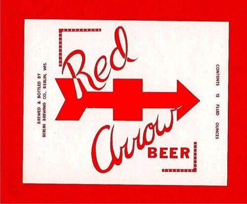 Red Arrow Beer Bottle Label Berlin Brewing Berlin Wis