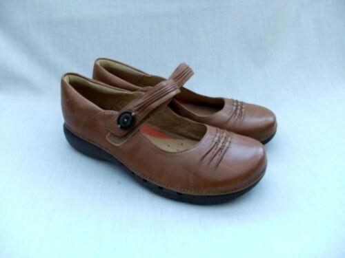 in scarpe Clarks Linda Womens chiaro Un 38 5 taglia New pelle marrone Unstructured XdxYXq