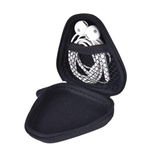 Unisex Women Triangle Headset Men Gift Zipper Coin Purse Key Wallet Pouch LDUKYF