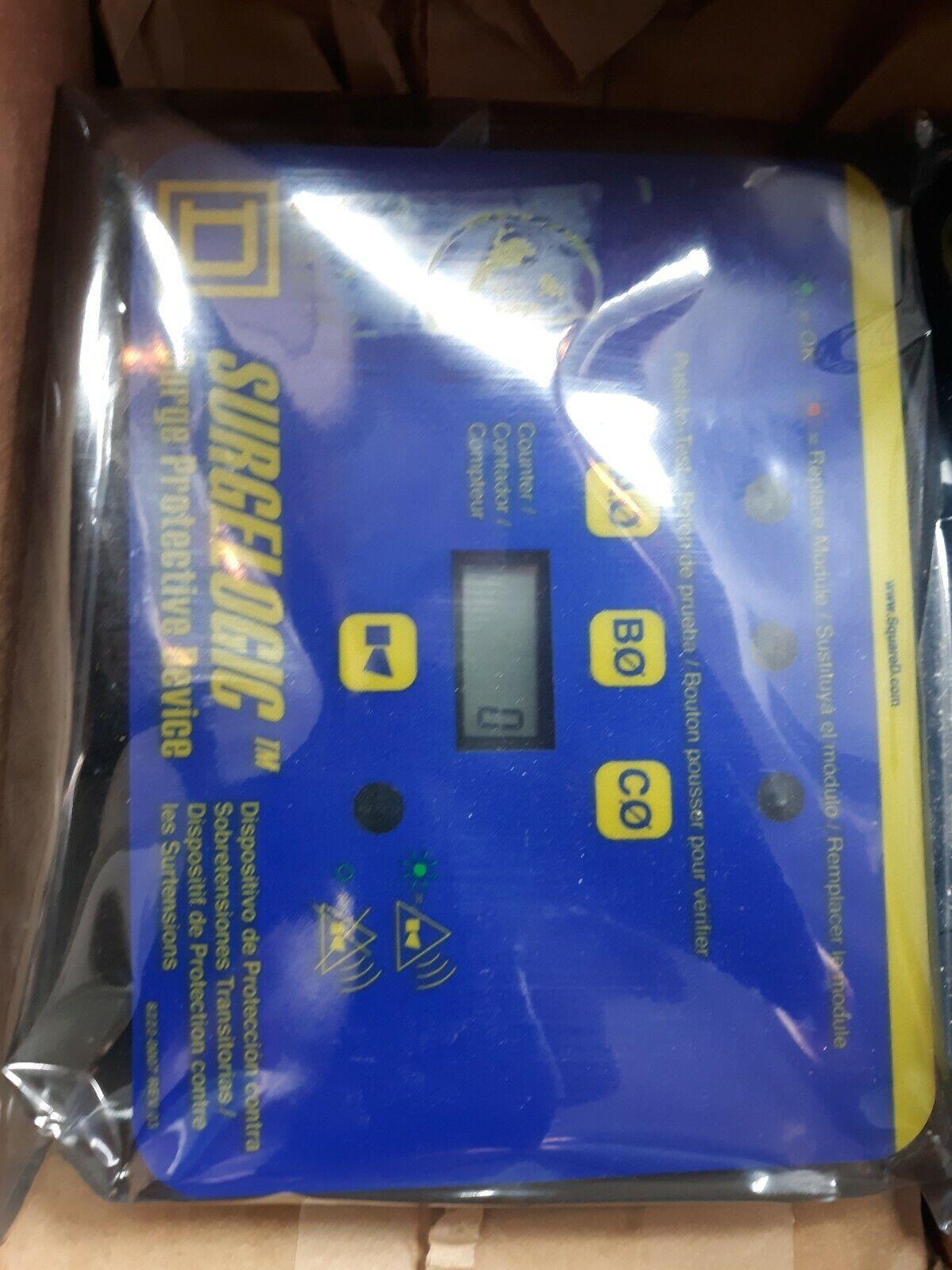 Square D TVS3DSPHC Surgelogic TVSS Display 3PH Counter Horizontal Schneider USED