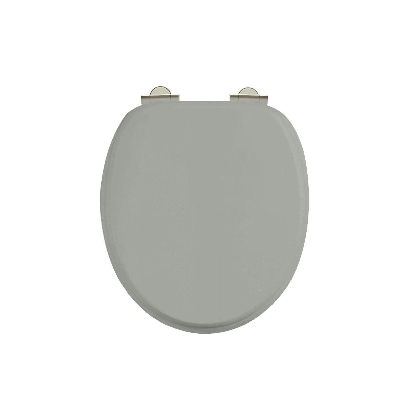 Burlington chrome olive foncé soft close siège de toilette S44, avec ou sans poignées