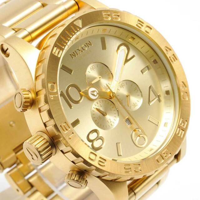 New NIXON Watch Mens 51-30 CHRONO All Gold A083-502 A083502 c047c2c301