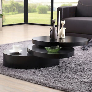 Cool Details About Modern Black Oval Coffee Table Rotating Contemporary Living Room Furniture Cjindustries Chair Design For Home Cjindustriesco