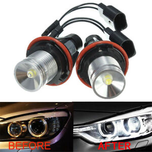 6000K-Angel-Eyes-Halo-10W-CREE-LED-Ring-Marker-Bulbs-For-BMW-X5-E39-E60-E63-E61