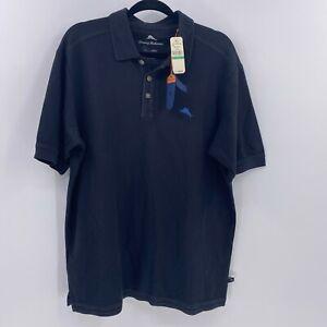 Tommy-Bahama-emfielder-polo-shirt-black-sz-L-Large-NWT