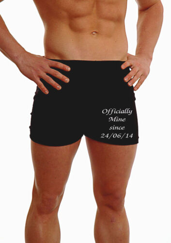 PERSONALISED MEN BOXER SHORTS UNDERWEAR WEDDING GIFT HUSBAND OFFICIALLY MINE LEG