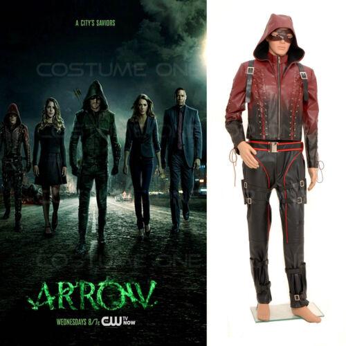 Arrow Season 3 Red Arrow Roy Harper Arsenal Cosplay Jacket Pants Mens Costume