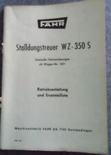 Fahr Stalldungstreuer WZ 350 S Betriebsanleitung und Ersatzteilliste