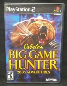 Cabela's Big Game 2005 - PS2 Playstation 2 COMPLETE Game 1 Owner Near Mint Disc