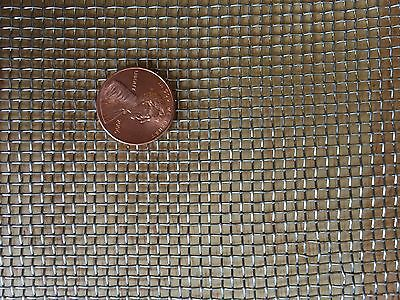 "Stainless Steel Woven Wire 304 #12 .023 Wire Cloth Screen 12/""x12/"""