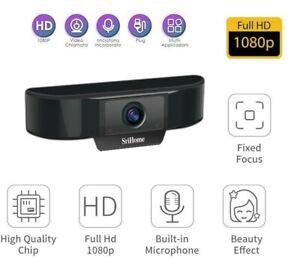 Webcam HD Pro Videochiamata Full HD PER pc Con Doppio Microfono USB 1080p VIDEO