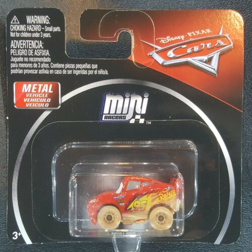 DISNEY PIXAR CARS DIE CAST MINI RACERS DIRT TRACK MUDDY LIGHTNING MCQUEEN FREE