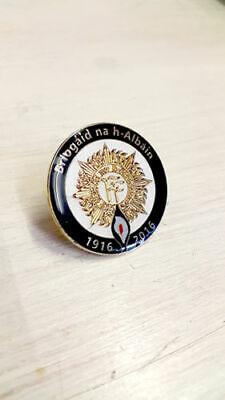 Scottish Brigade Irish Republican Easter Lily Briogaid Na h-Albain Pin Badge