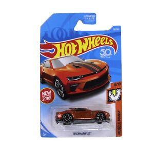 Hot-Wheels-2018-Camaro-Ss-Orange-50th-Anniversary-Edition-2017-Sema-Coche-de-juguete
